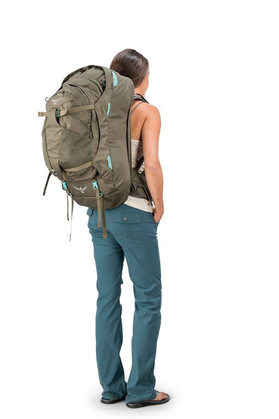Osprey Women/'s Fairview 55L WS//M Carry-on Backpack Luggage Forest Green