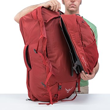 820fce31acaf Detachable daypack provides additional storage and organization ideal for  daytrips or carry-on. It can be attached to the main pack harness for  secure front ...