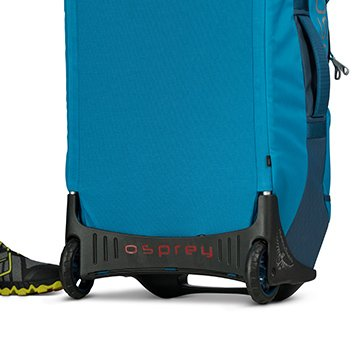 High clearance chassis makes rolling this bag across any road easy.