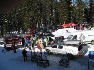 Demo area at Coldsmoke powder festival