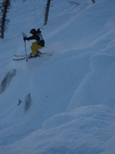 Ripping a line on the Powder Keg