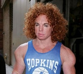 Carrot Top seen lurking around the strip...