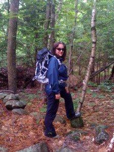 Leesa in the Vernon Walker wilderness