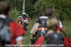 Tom Zidek leading Team Cordura/Osprey out from the climbing leg