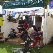 Catch a massage between acts
