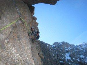 Mike Bromberg climbing Chamonix Granite