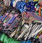 Bracelets at the Masai market
