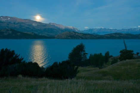 Moonrise in Patagonia.