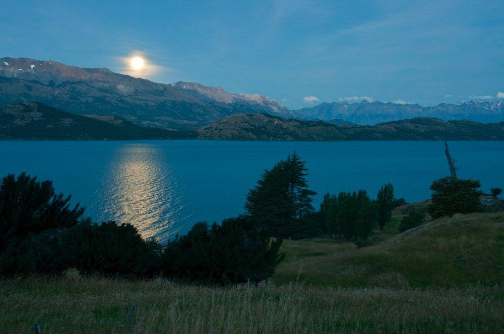 Moonrise in Patagonia.