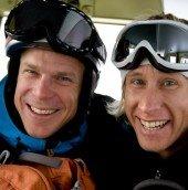 Fredrik and Matt Helliker first lift