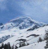 NORTH ridge ski descent