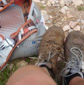 Pack and Muddy Shoes