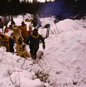 Awesome vintage shot of winter survival camp, circa 1978. Photo: Cold Splinters