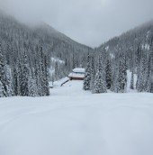 The lodge - buried underneath perpetual snowfall