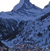 A marketing department's dream backdrop. The Matterhorn and Zermatt as advertised and better.