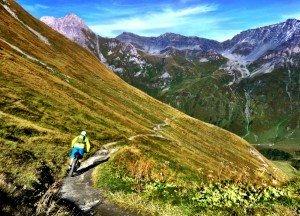 Epic descent into La Fouly.