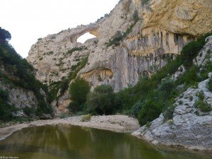The Dolfin arch of Rodellar, Spain. I tried a route right on arch. Beautiful hiking all over the place as well.