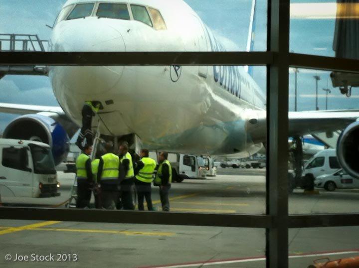 Condor Airline in Frankfurt, Germany.