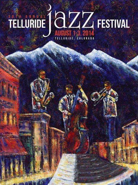 2014 Telluride Jazz Festival poster by artist Jennifer Morrison Godshalk