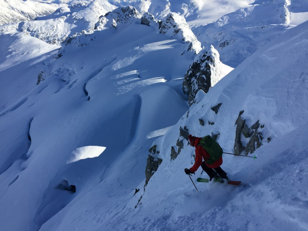 Osprey Packs Athlete Joe Schwartz skiing