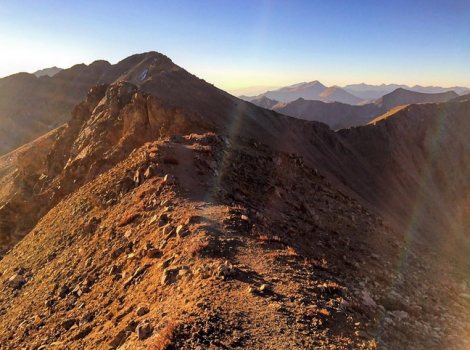 Sunrise 14er Ben Clark Nolans 14 Osprey Packs September 2015