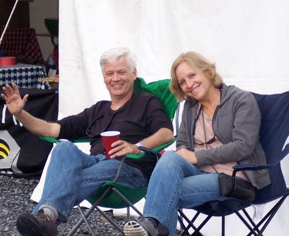 Osprey-Owner's-Mike-Pfotenhauer-and-Diane-Wren-relax-after-a-long-day-of-gear-repairs