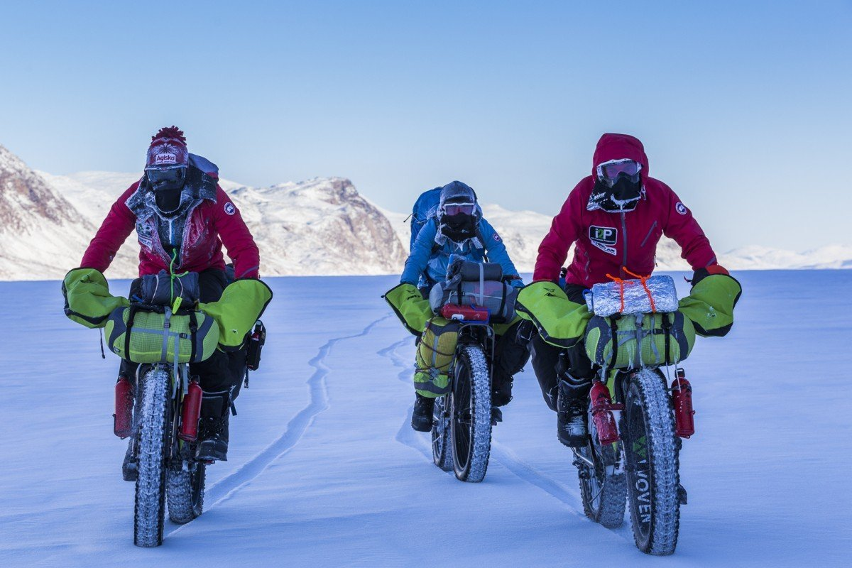 Arctic2atacama with Ray Zahab, Stefano Gregoretti, Jenny Segger Mountain biking across Arctic from Qikitarjuaq & Auyuittuq National Park to Pangnirtung