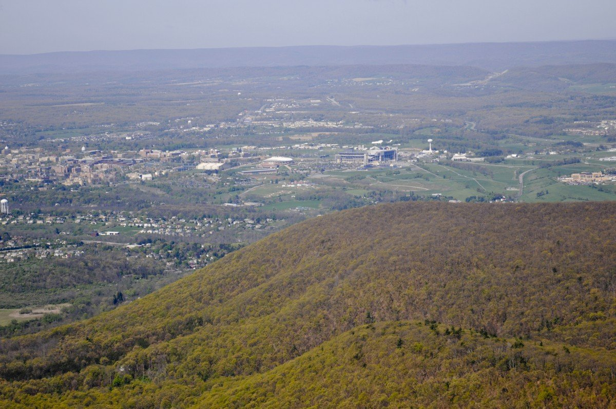 Mount Nittany and the Penn State Campus. Image via Penn State University