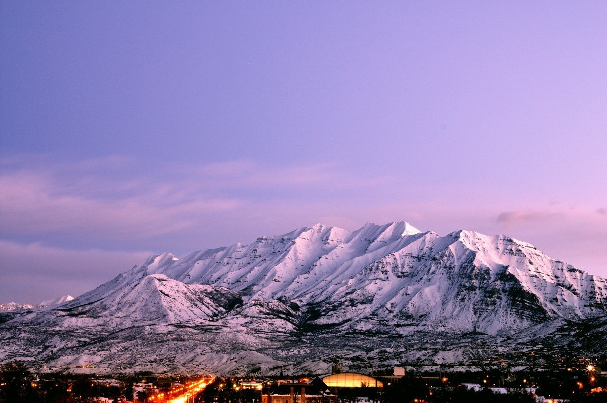 Mount Timpanogos from Provo. Image via Eric Ward
