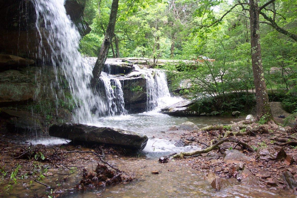 Burden Falls in Shawnee National Forest. Image via Curtis Abert