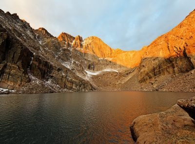Chasm Lake and Longs Peak. Image via Dustin Gaffke