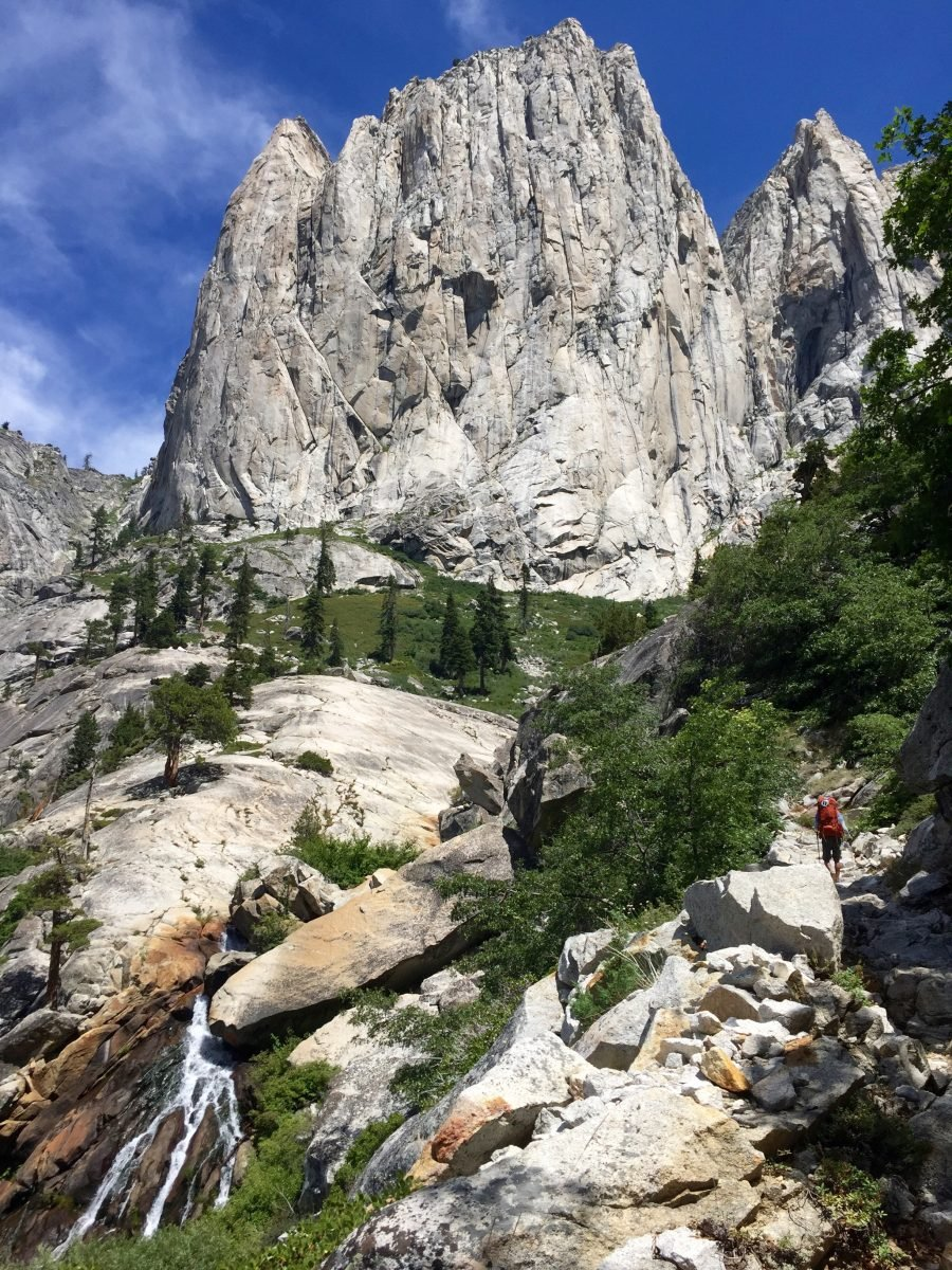 View of Angel Wings from the High Sierra Trail