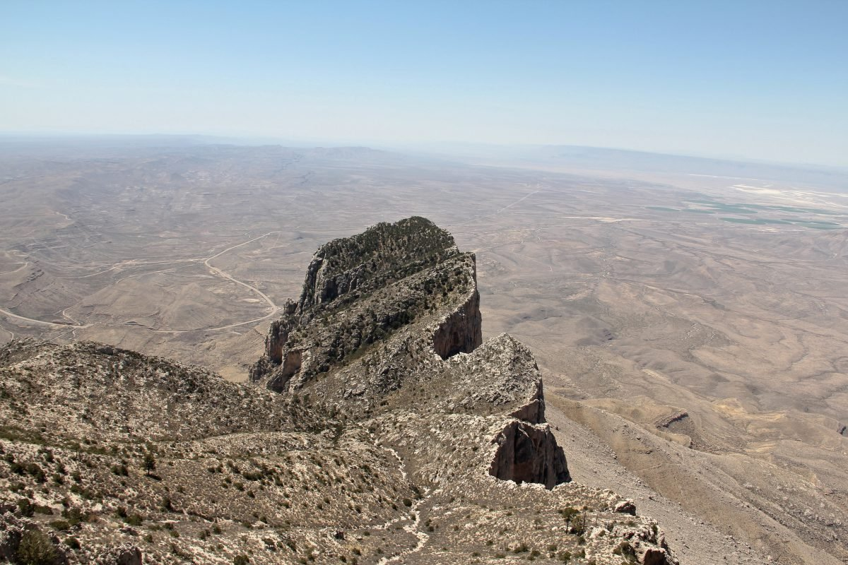 The view from Guadalupe Peak. Image via Clay Junell