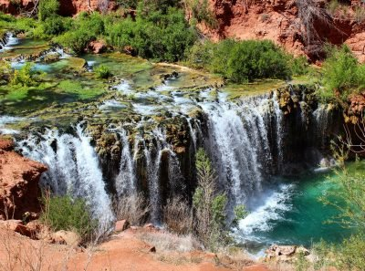 Hiking at Havasupai Falls