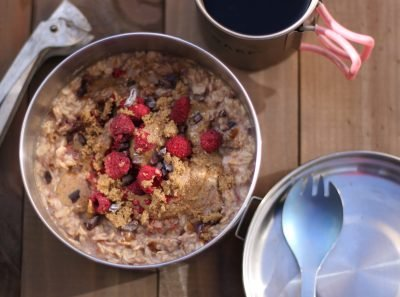 Quick camp breakfast for the days when you need long lasting energy