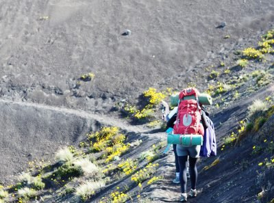 Guatemala Backpacking trip in 2016. Picture of my overpacked backpack on the Acatenango Volcano taken by Nate Powell.