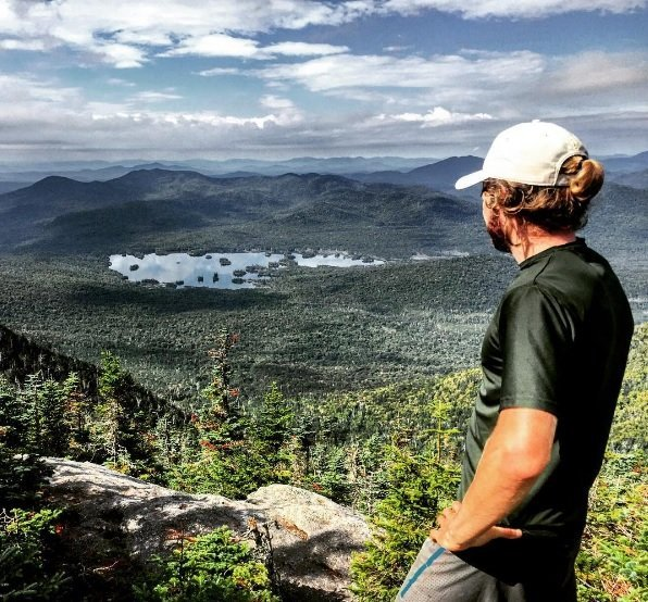Looking out over Elk Lake and Boreas Mountain in the Adirondack Park.