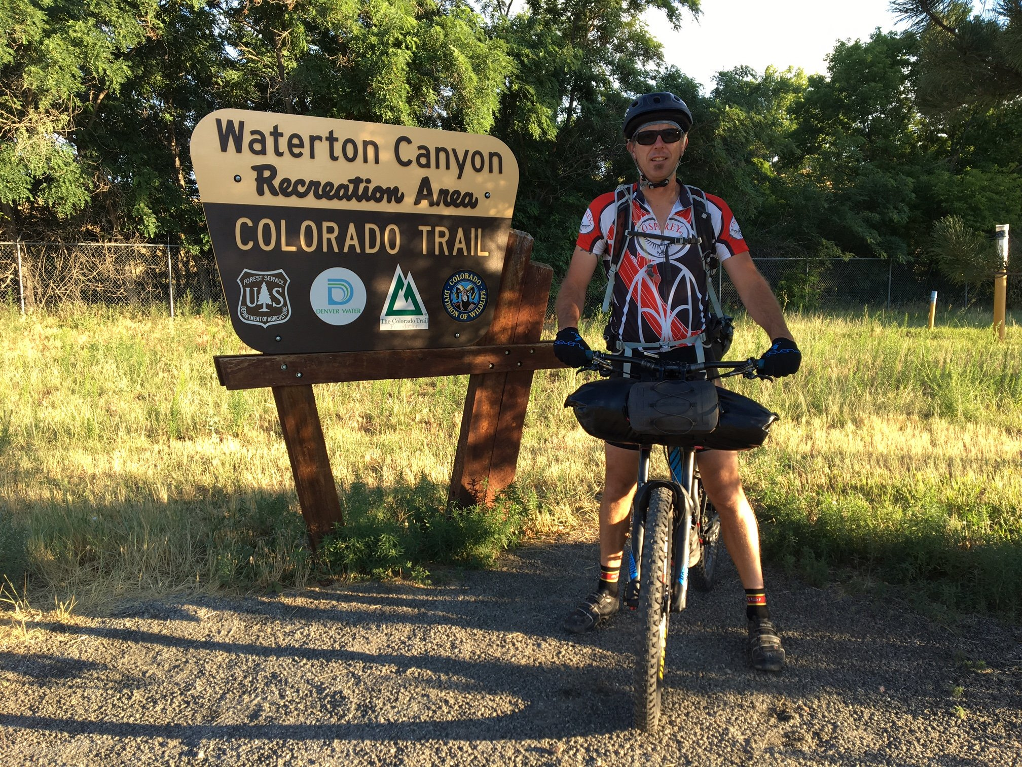 537 Miles Bikepacking The Colorado Trail Osprey Packs Experience Both Have Been Verified I Like Bmtb A Lot However Just Amped Up And Ready To Get Started At Waterton Canyon